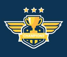Badge des Champions vecteur