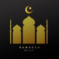 bannière horizontale concept ramadan kareem vecteur