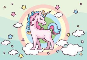 Illustration vectorielle de licorne