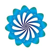 conception de vecteur de symbole floral dans des couleurs bleues