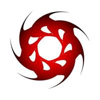 spirographe symbole créatif de cercle pointu de couleur rouge foncé