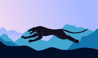Vecteurs uniques de panthère noire