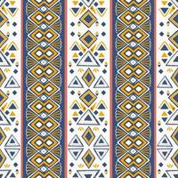 vecteur de motif tribal. sans soudure ethnique à la main, dessiné à la main avec illustration de rayures.