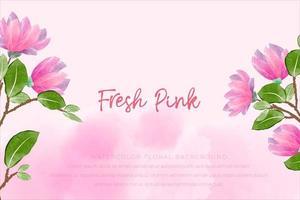 fond aquarelle floral avec concept rose