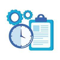 montre horloge et liste de contrôle vecteur