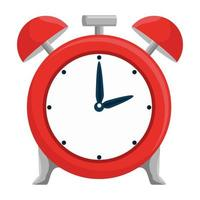 icône de rappel de l'heure du réveil vecteur