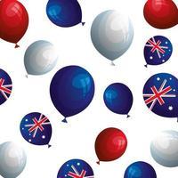 fond de ballons hélium avec drapeau australie vecteur