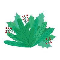 joyeux noël décoration florale vecteur