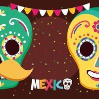 conception de vecteur de crânes mexicains