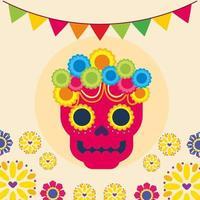 conception de vecteur de crâne mexicain