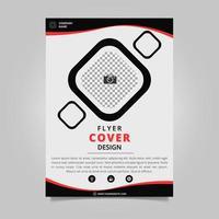 conception de couverture de flyer noir et rouge