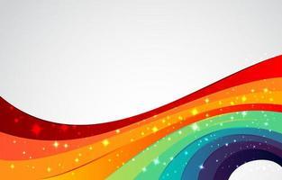 fond arc en ciel coloré vecteur