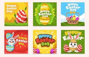 joyeux lapin amusant le jour de Pâques vecteur