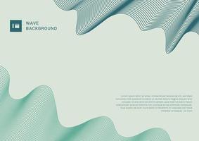éléments de lignes abstraites fond moderne vague bleue et verte avec un espace pour votre texte. vecteur