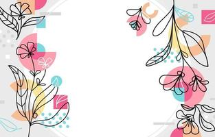 fond floral de printemps de memphis vecteur