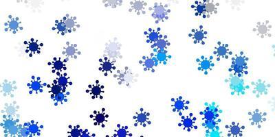 fond de vecteur bleu clair, vert avec symboles covid-19.