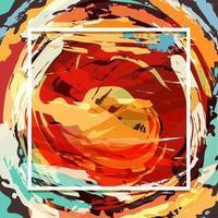 modèle de fond de peinture abstraite vecteur