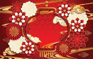 concept de fond de forme de lanterne de nouvel an chinois vecteur