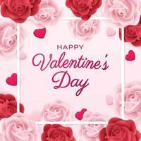 voeux de saint valentin romantique vecteur