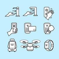 icônes simples de intact vecteur