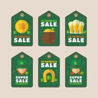 promotion de la super vente sur le thème de saint patrick vecteur