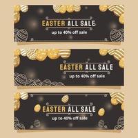 bannière de marketing de vente de pâques vecteur