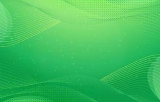 fond vert avec des lignes dynamiques vecteur
