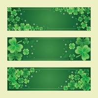 bannière de trèfle vert dégradé s