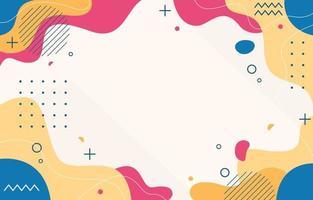 fond fluide plat abstrait coloré vecteur
