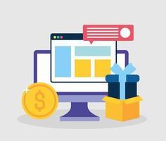 concept de marketing de médias sociaux avec ordinateur