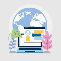 marketing sur les réseaux sociaux avec ordinateur portable