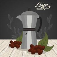 méthode d'infusion de café moka pot vecteur