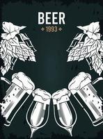 chope de bière icônes isolées