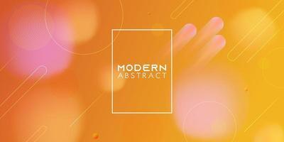 concept abstrait de conception de bannière de style dynamique. éléments orange avec dégradé fluide. vecteur