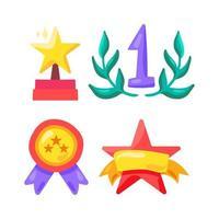 prix et symbole gagnant dans le sport, le show business et la vie