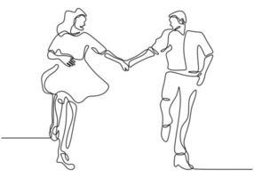 dessin au trait continu. couple romantique main dans la main. conception de concept de thème amoureux. un minimalisme dessiné à la main. métaphore de l'illustration vectorielle amour, isolé sur fond blanc. vecteur