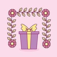 conception de la saint-valentin avec joli coffret cadeau vecteur