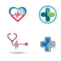 ensemble d'images de logo de soins médicaux vecteur
