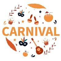 vecteur d'élément de collection carnaval brésil
