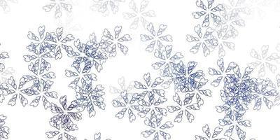 abstrait de vecteur bleu clair avec des feuilles.