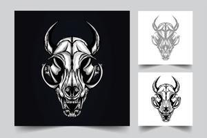 illustration d & # 39; illustration de crâne