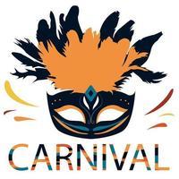 illustration plate colorée de carnaval brésilien vecteur