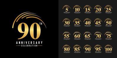 ensemble de logo anniversaire vecteur