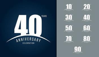 ensemble de logo anniversaire