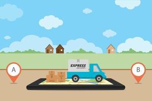 concept de livraison express vecteur