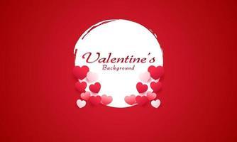 fond de joyeux saint valentin vecteur