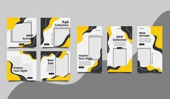 promo de mode pour les modèles de publications sur les réseaux sociaux et de collection d'histoires. vecteur