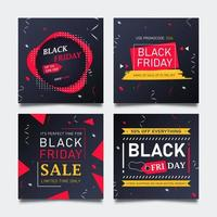 vente de mode promo vendredi noir pour publication sur les réseaux sociaux.
