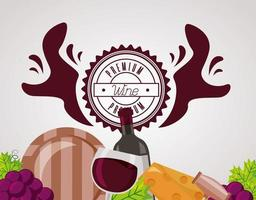 bannière de boisson au vin vecteur