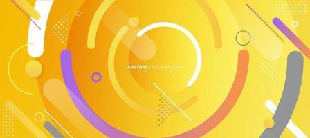 papier peint géométrique créatif. composition de formes de dégradé à la mode. couleur de l'année 2021. vecteur